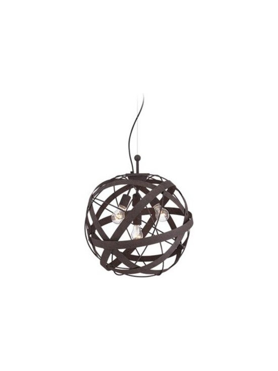 Orbital Weave Rust Metal 19 1/2-Inch-H Pendant Light -