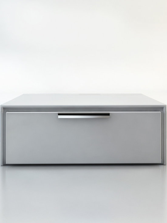 Thompson Contemporary & Modern Nightstand by ModLoft - The Thompson sleek one-drawer nightstand with chrome handle, featuring a thin grooved front panel frame. Available in wenge or walnut finishes. Also available in white lacquer finish. Assembly required. Imported.