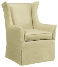 Jackson Skirted Wing Chair transitional-armchairs