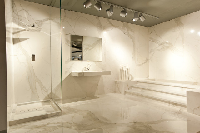 Calacatta Vena - bathroom - by StonePeak Ceramics