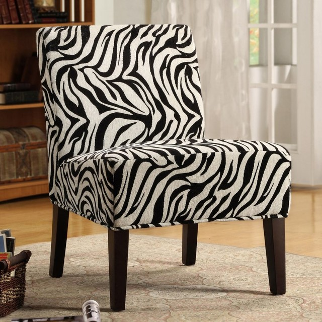 Bree Fabric Accent Chair - Zebra Multicolor - HN468F6S(3A) contemporary-furniture