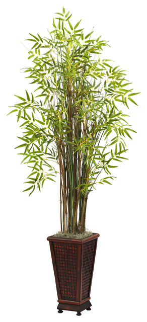 Nearly Natural 5 5 39 Grass Bamboo Plant With Decorative