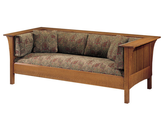 Stickley Prairie Spindle Settle 89-234 -