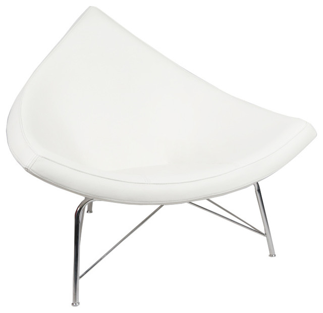 Coconut chair reproduction white 100 italian leather modern armchairs and accent chairs - Coconut chair reproduction ...