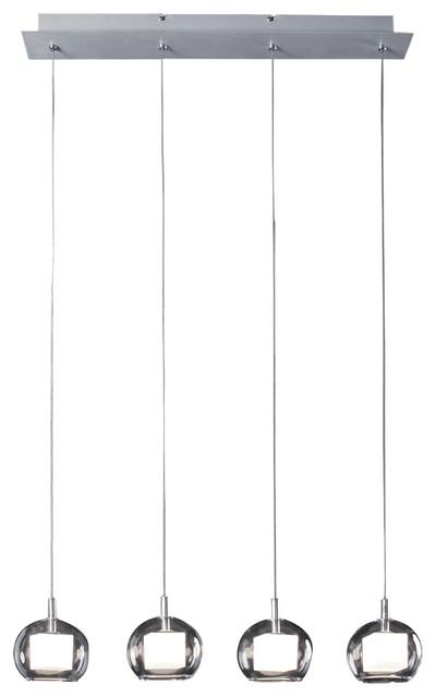 ET2 Lighting E20056-10 Nucleus Brushed Aluminum Linear Pendant contemporary-pendant-lighting