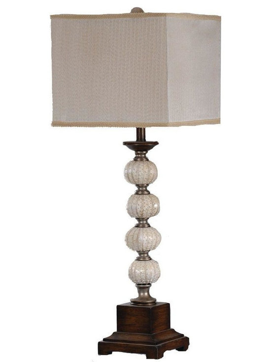 Absolute Decor - Absolute Decor Lamps 35 in. Silver and Worn Wood Natural Sea Urchin Table Lamp - Shop for Lighting & Ceiling Fans at The Home Depot. Inspired by the Sea this Stacked Sphere Table Lamp is certain to turn heads in its direction. Mixed with Bone White Warm Silver and Worn Wood Tones to Create a Striking transitional Appeal. The Cream Striped Sheer Taupe Fabric Shade is the perfect compliment to the Organic style of this Interesting Table Lamp.