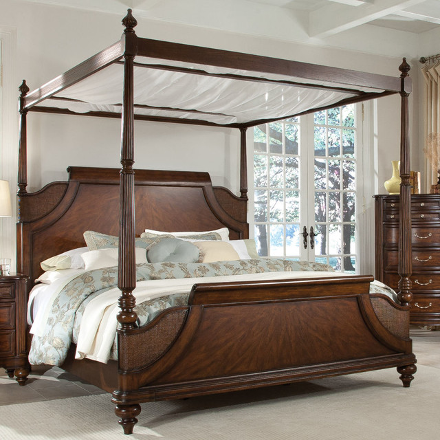 tranquil bay eastern king canopy bed beds by modern furniture warehouse. Black Bedroom Furniture Sets. Home Design Ideas