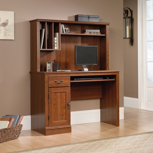 "Camden County 43.5"" W Computer Desk with Hutch - Modern - Desks And Hutches - by Wayfair"