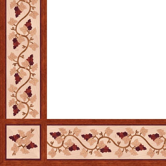 Oshkosh Designs Shriaz Inlay Border And Corner