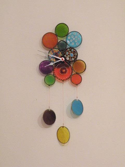 Wall Clock with Falling Circle by Gilat modern clocks