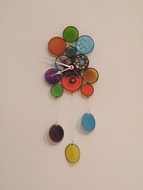 Wall Clock with Falling Circle by Gilat modern-wall-clocks