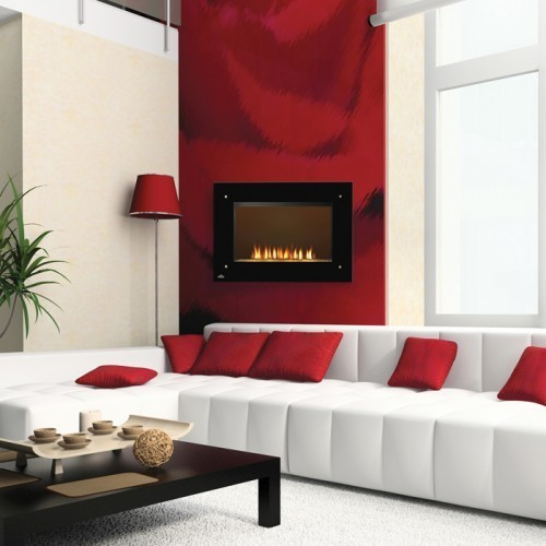 Napoleon 39 inch Wall Mount Electric Fireplace indoor-fireplaces