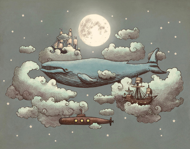 Ocean Meets Sky Art Print By Terry Fan eclectic-prints-and-posters
