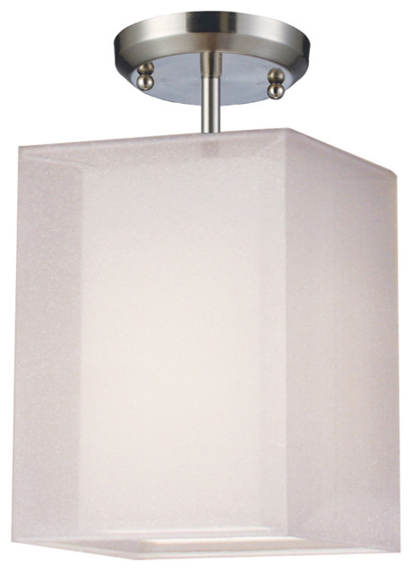Z-Lite Nikko White Rectangular Semi-Flush Mounted Ceiling Light contemporary-ceiling-lighting