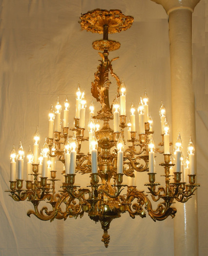 Large chandelier traditional