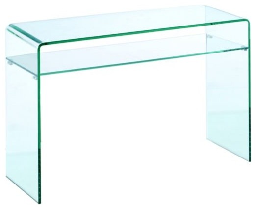 Lumeno Glass Sofa Table - Modern - Side Tables And End ...