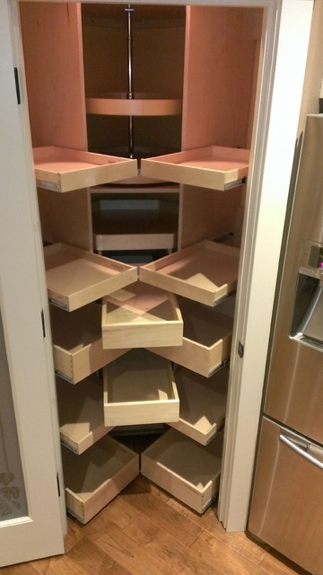 Corner Pantry Pull Out Shelves - Pantry Cabinets - atlanta - by ShelfGenie National