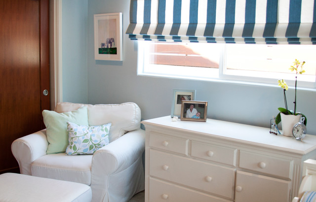 Blue and Sage Toddler's Bedroom traditional-kids