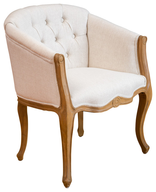 Morrison French Light Brown Accent Chair Beige