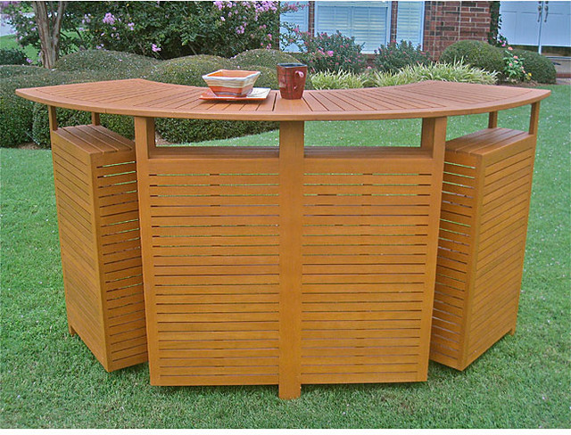 Royal Tahiti Outdoor Balau Wood Folding Bar contemporary-patio-furniture-and-outdoor-furniture