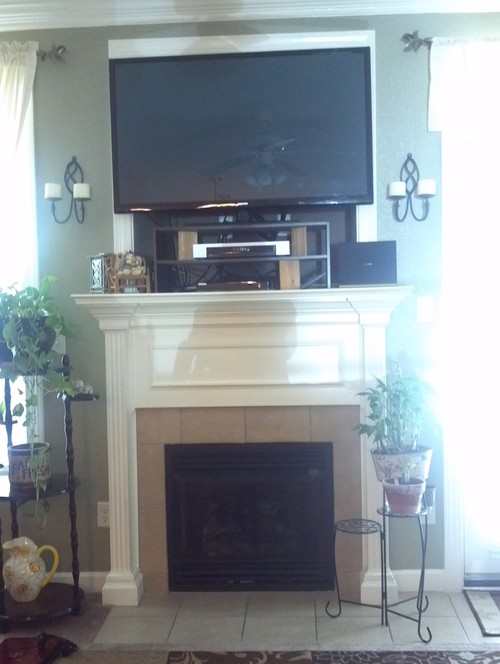 Flat Fireplace Screen