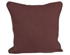 Plain Chocolate - Filled Cushion modern-pillows
