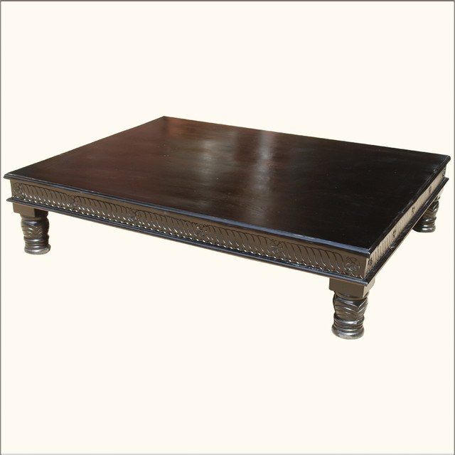 lincoln study ebony tropical hardwood coffee table. Black Bedroom Furniture Sets. Home Design Ideas