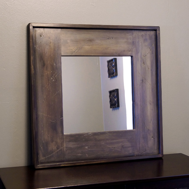 Wood Framed Mirrors - Rustic - Wall Mirrors - milwaukee - by ...