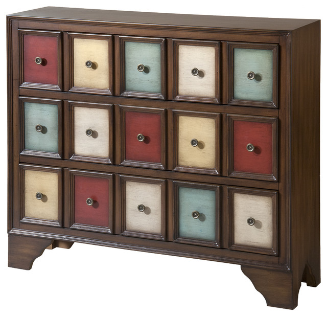 Brody Multicolored Wood 3-drawer Accent Chest - Contemporary - Accent Chests And Cabinets - by ...