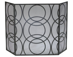 Cyan Design Orb Fireplace Screen contemporary fireplaces
