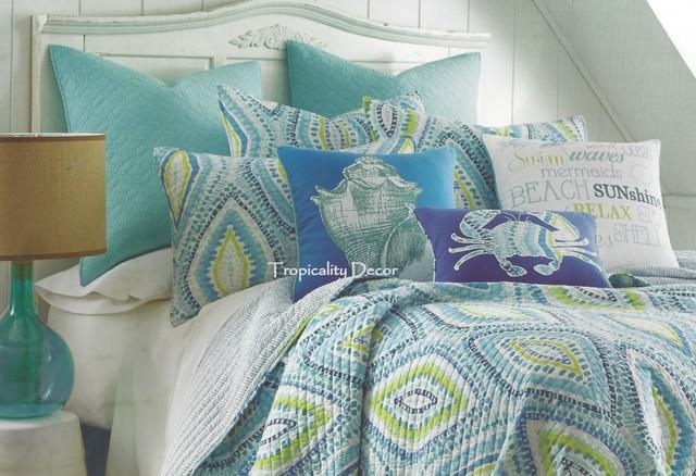 Cabana Coastal Bedding Tropical Bedroom