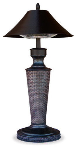 Uniflame EWTR890SP Table Lamp Electric Heater - 1200 Watt - Vacation Day contemporary-fire-pits