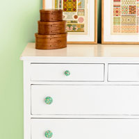 Craft Project - Make Your Own Fabric Covered Drawer Pulls - Good Housekeeping