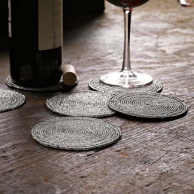 Beaded Coasters traditional-coasters
