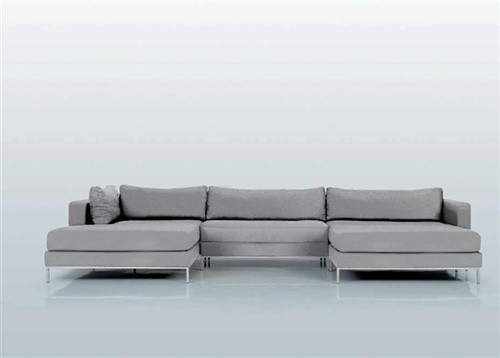 Ahlmeda Double Chaise Sectional Modern Sectional Sofas