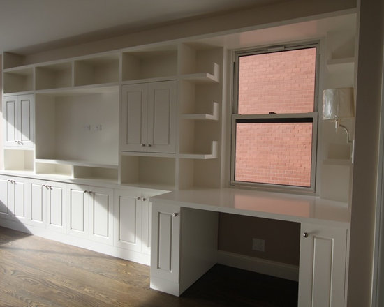 Cavallo Residence - Living Room - Wall Unit, Storage Cabinets, and Shelving