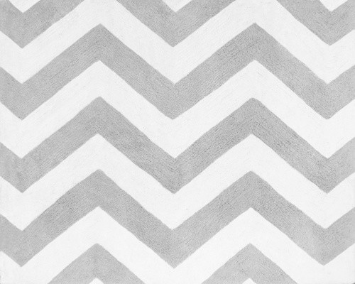 Zig Zag Gray And Black Chevron Floor Rug Contemporary