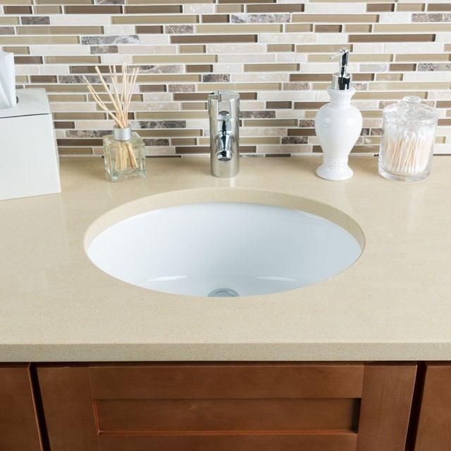 White Trough Bathroom Sink : ... White Medium Oval Bowl Undermount Bathroom Sink contemporary-bathroom