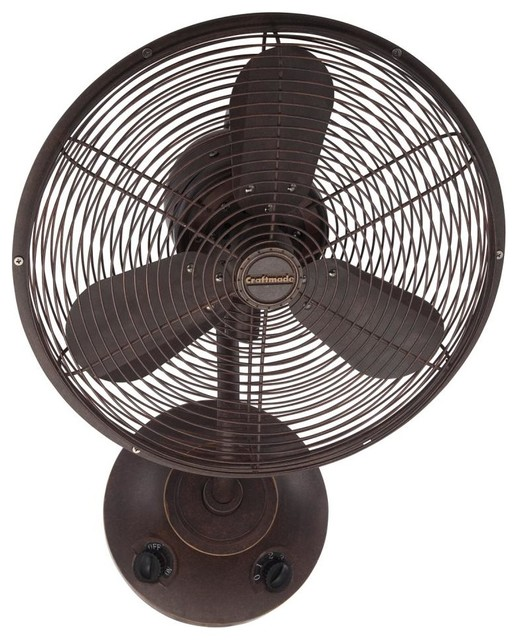 Craftmade Bw116ag3 16 Quot Wall Mount Fan Transitional