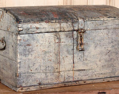 Antique Steamer Trunk eclectic storage boxes