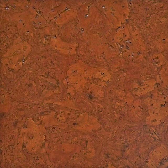 Colored Cork Tiles in Nug Texture Contemporary Cork