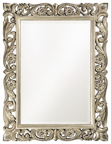 Ornate floral mirror victorian kids mirrors by for Traditional mirror