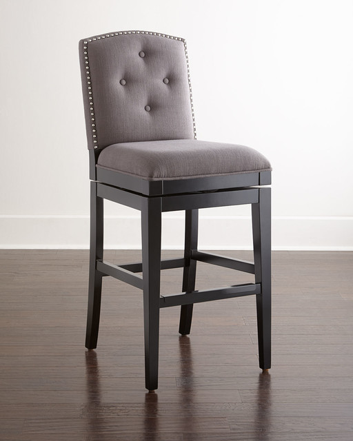 Pepperton Tufted Swivel Barstool Heather Gray