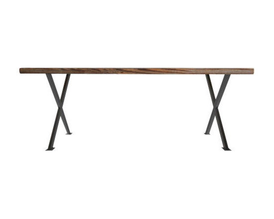 Urban Wood Goods - Industrial Modern X Frame Reclaimed Wood Table - Standard, 48 x 30 - X marks the spot where you'll gather for dinner, set up your laptop for work, check your mail and spread out your craft projects. This X-frame desk is designed to become the cross road of your day's activities. And, being crafted of handsomely aged, reclaimed wood planks, it's no stranger to a wide assortment of human adventures.