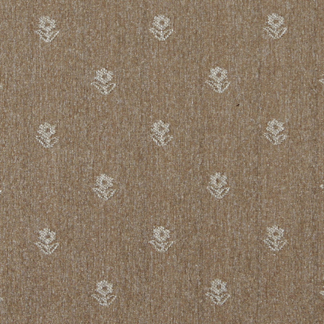 Light Brown And Beige Flowers Country Style Upholstery
