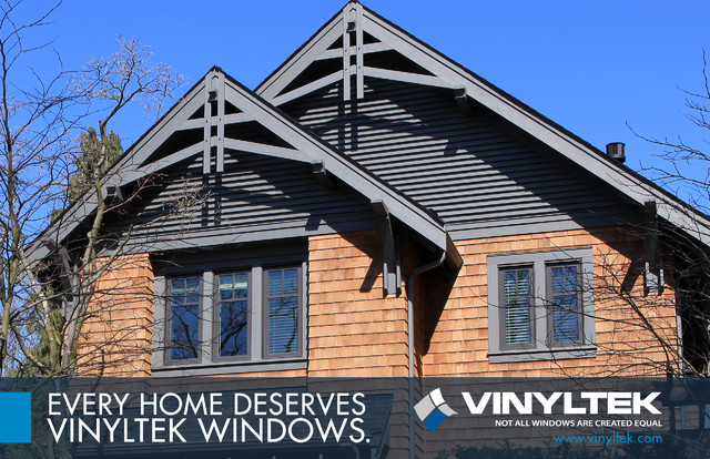 Homes With Vinyltek Windows traditional-windows
