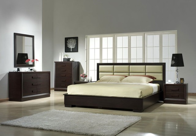 leather designer bedroom furniture sets modern bedroom furniture sets - Contemporary Bedroom Furniture Designs