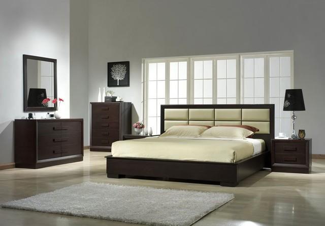Elegant Leather Designer Bedroom Furniture Sets Modern