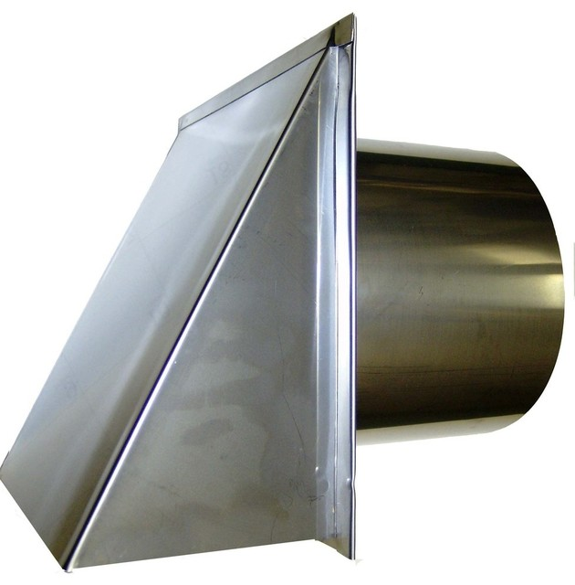 Stainless Steel Exterior Side Wall Cap 4 Inch With Screen ly Traditiona