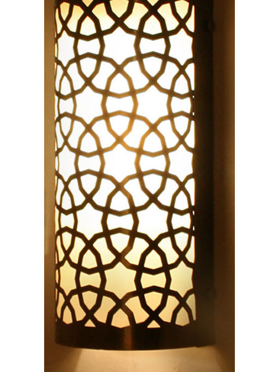 Small Half Cylinder Ottoman Laser Cut Brass Wall (Ceiling) Lamp - *Code:  HD-20002_38